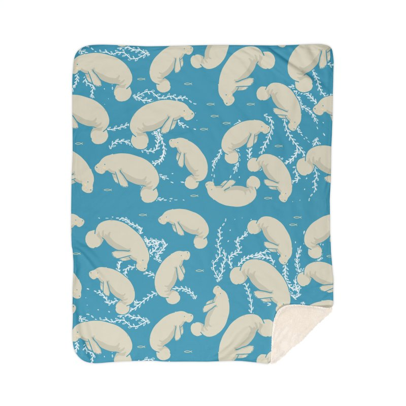 Lamentino the manatee Home Blanket by Tostoini