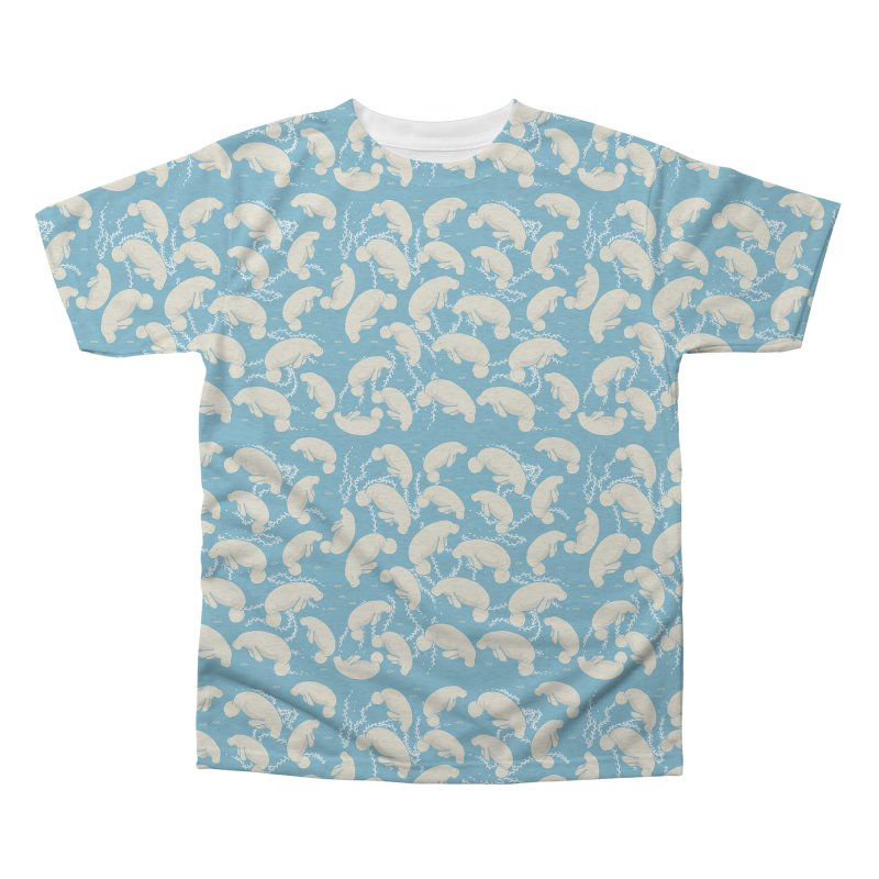 Lamentino the manatee Men's Triblend All Over Print by Tostoini