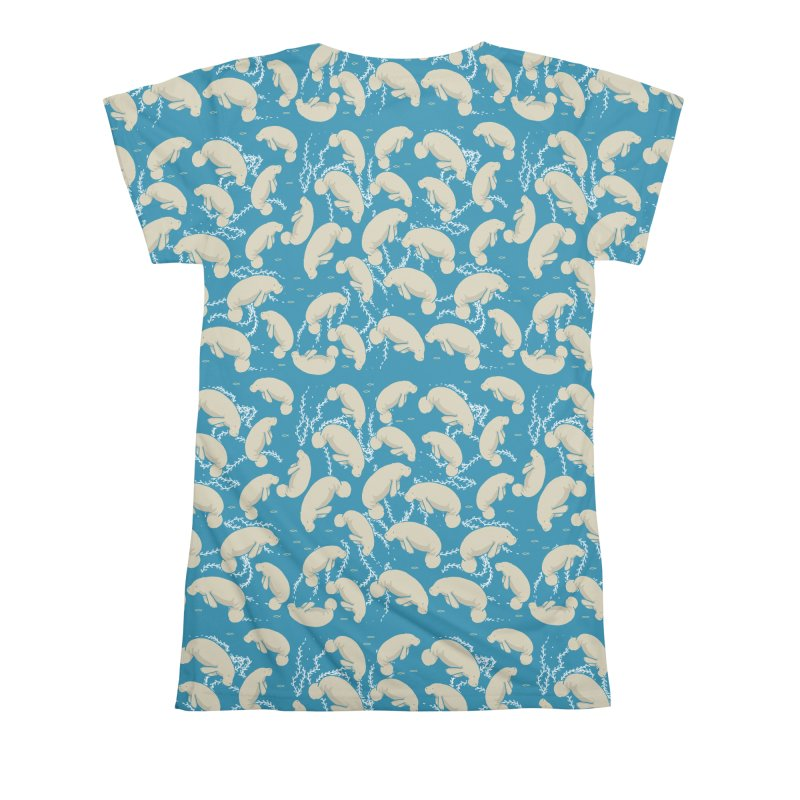 Lamentino the manatee Women's All Over Print by Tostoini