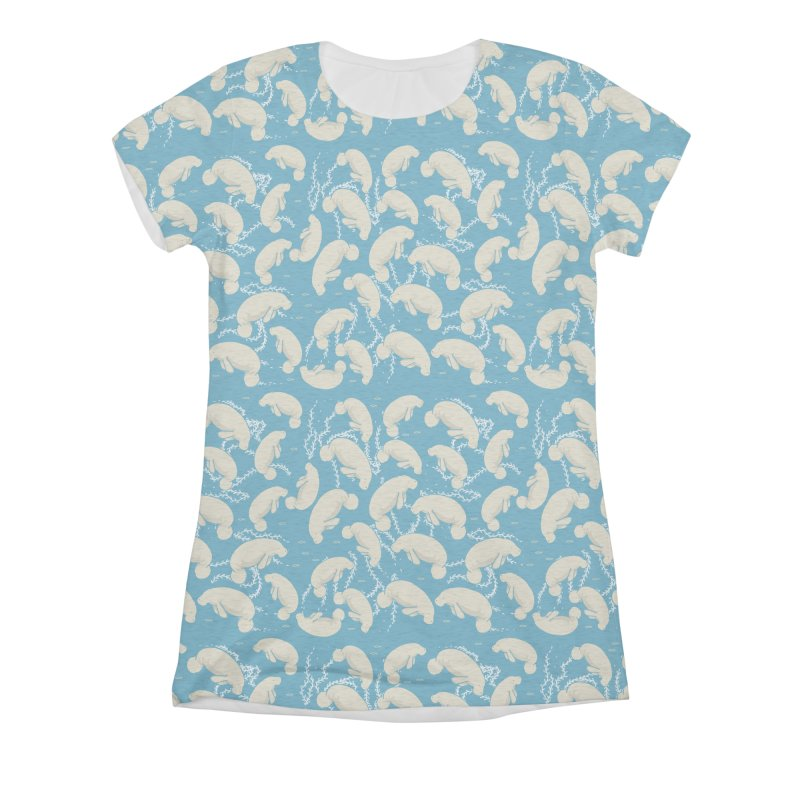 Lamentino the manatee Women's Triblend All Over Print by Tostoini