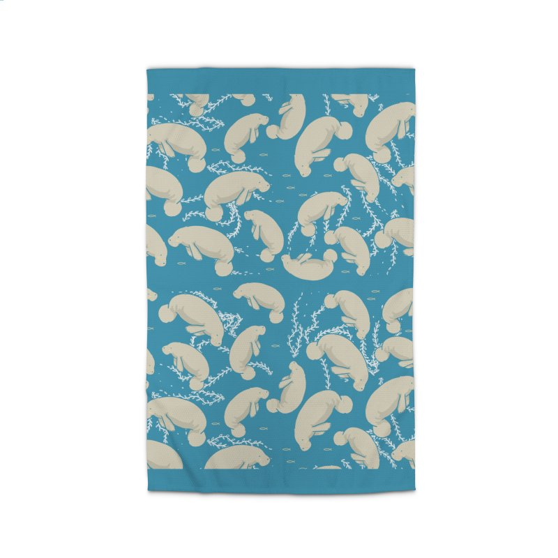 Lamentino the manatee Home Rug by Tostoini