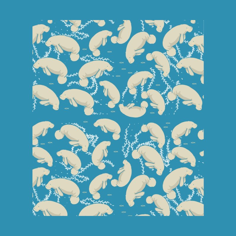Lamentino the manatee Home Shower Curtain by Tostoini
