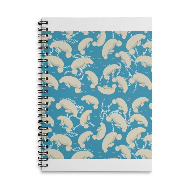 Lamentino the manatee Accessories Lined Spiral Notebook by Tostoini