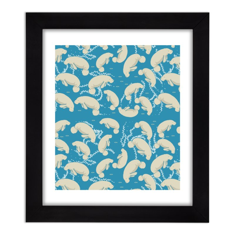 Lamentino the manatee Home Framed Fine Art Print by Tostoini