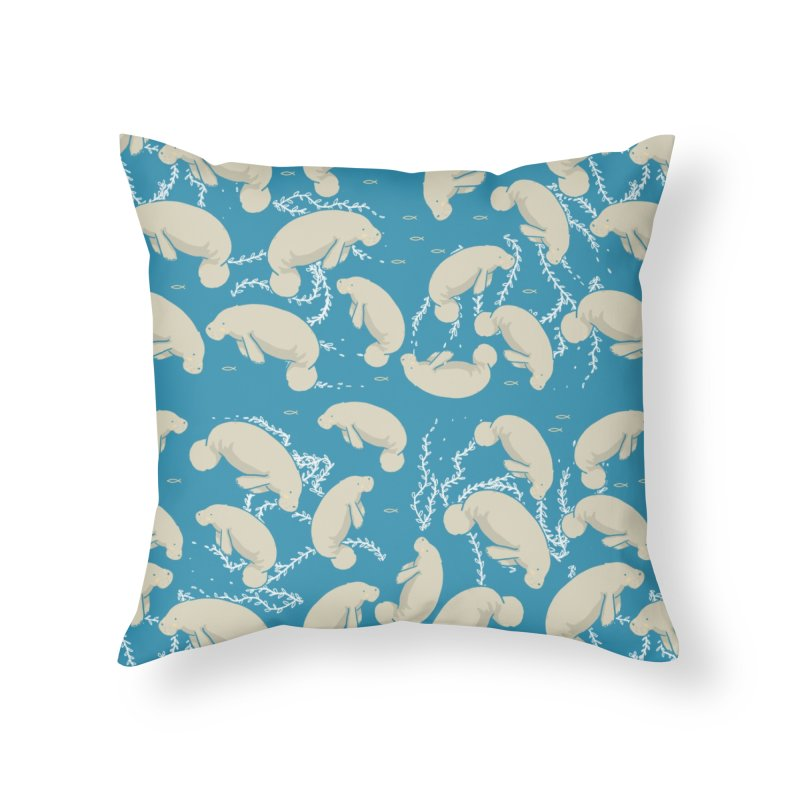 Lamentino the manatee Home Throw Pillow by Tostoini