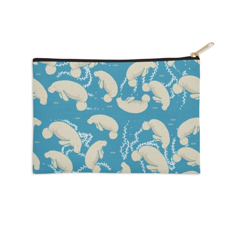 Lamentino the manatee Accessories Zip Pouch by Tostoini
