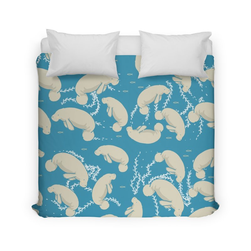 Lamentino the manatee Home Duvet by Tostoini