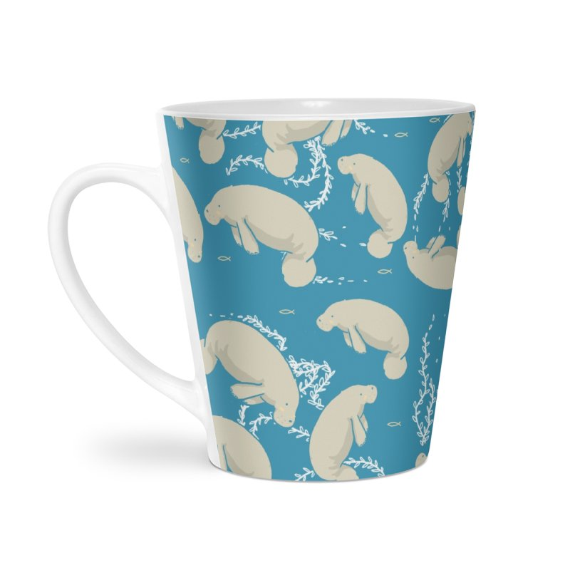 Lamentino the manatee Accessories Latte Mug by Tostoini