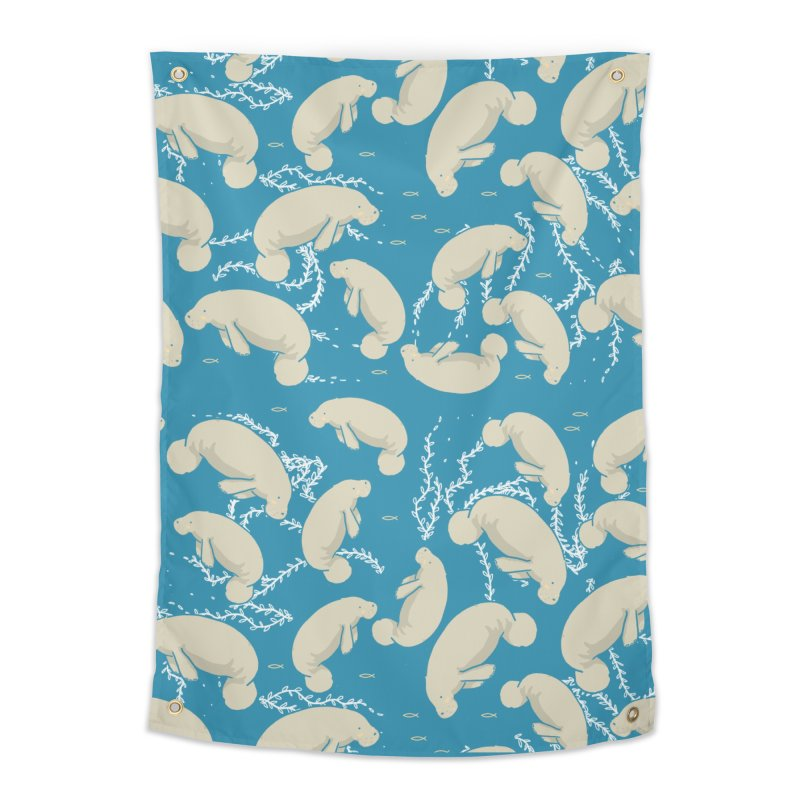 Lamentino the manatee Home Tapestry by Tostoini