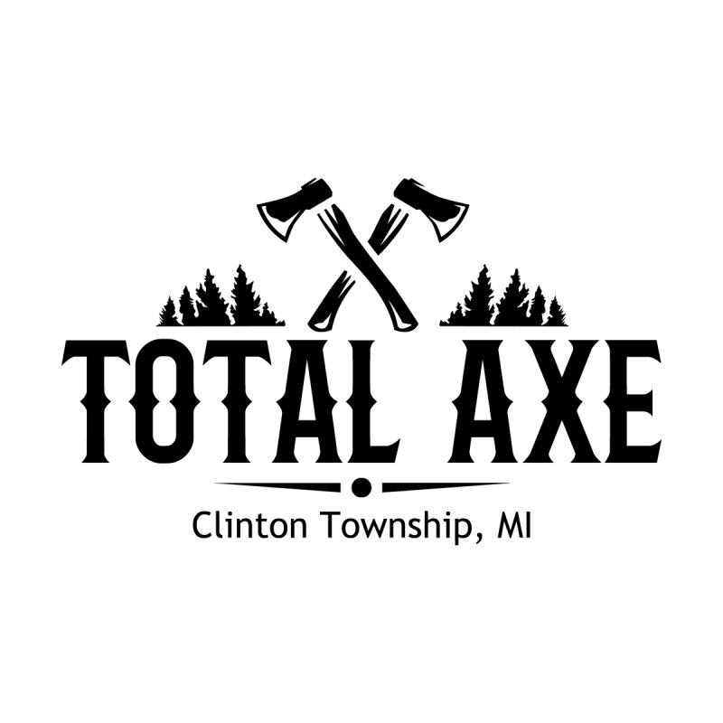 Total Axe Black Logo Women's Zip-Up Hoody by Total Axe Throwing Online Shop