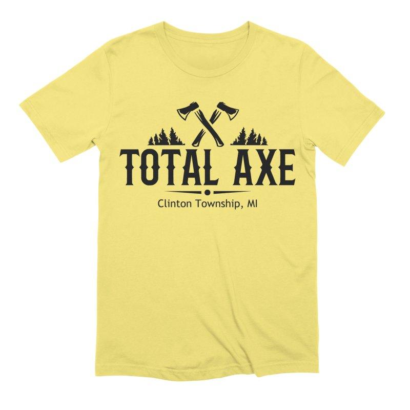 Total Axe Black Logo Men's T-Shirt by Total Axe Throwing Online Shop