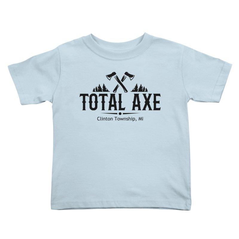 Total Axe Black Logo Kids Toddler T-Shirt by Total Axe Throwing Online Shop