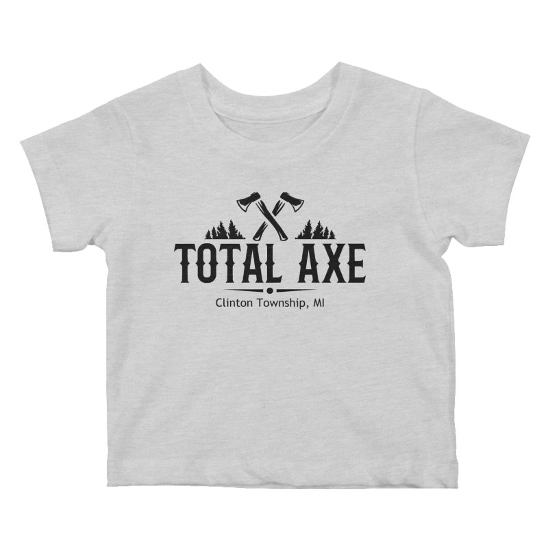 Total Axe Black Logo Kids Baby T-Shirt by Total Axe Throwing Online Shop