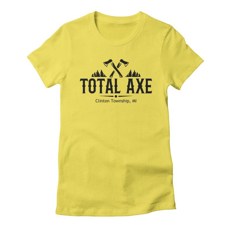 Total Axe Black Logo Women's T-Shirt by Total Axe Throwing Online Shop