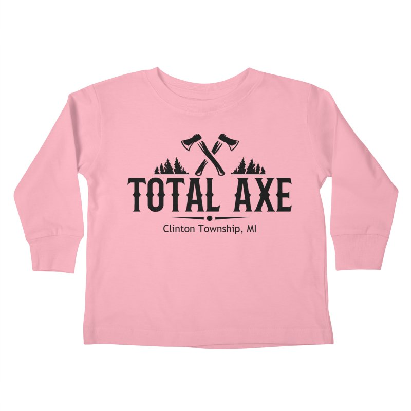 Total Axe Black Logo Kids Toddler Longsleeve T-Shirt by Total Axe Throwing Online Shop