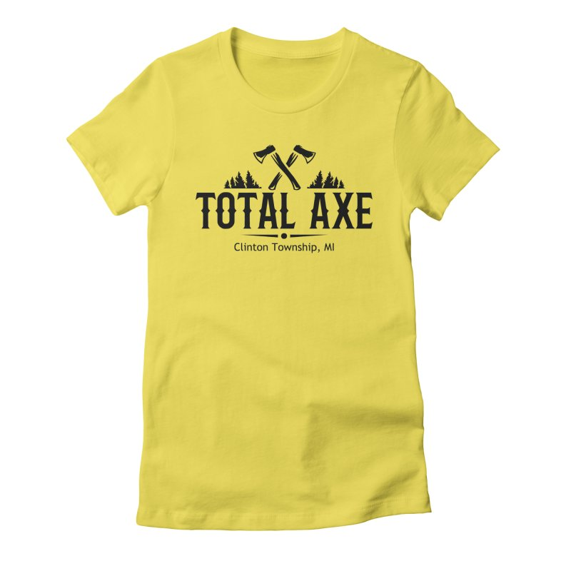 Total Axe Black Logo Women's T-Shirt by Total Axe Throwing Online Shop
