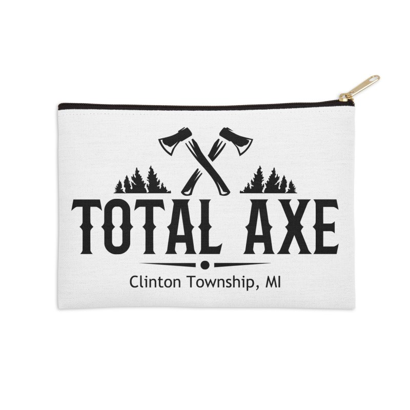 Total Axe Black Logo Accessories Zip Pouch by Total Axe Throwing Online Shop
