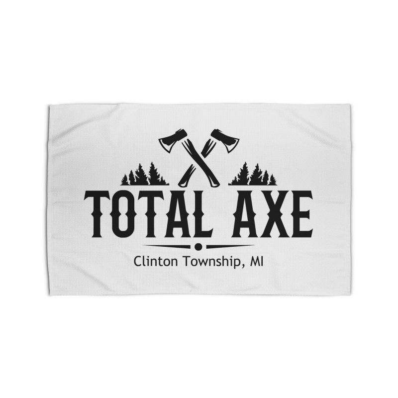 Total Axe Black Logo Home Rug by Total Axe Throwing Online Shop