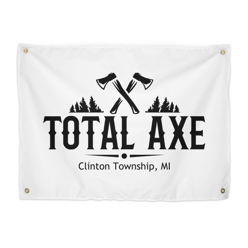Total Axe Black Logo Home Tapestry by Total Axe Throwing Online Shop