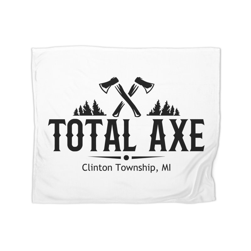 Total Axe Black Logo Home Blanket by Total Axe Throwing Online Shop