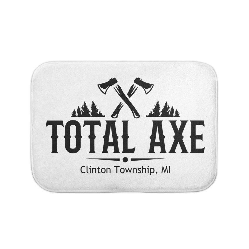Total Axe Black Logo Home Bath Mat by Total Axe Throwing Online Shop