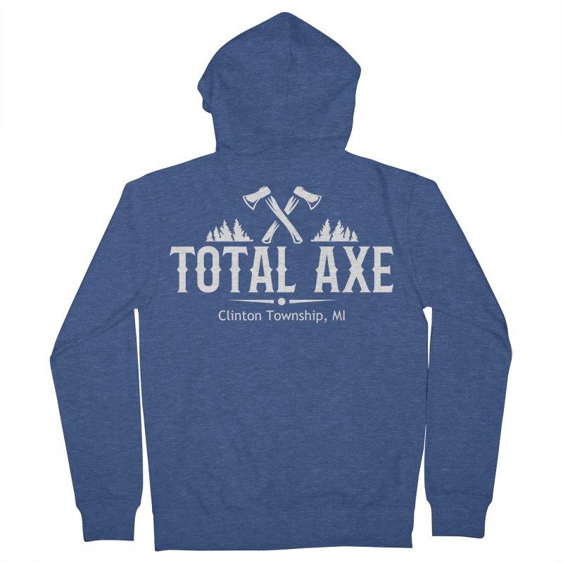 Total Axe White Logo Men's Zip-Up Hoody by Total Axe Throwing Online Shop