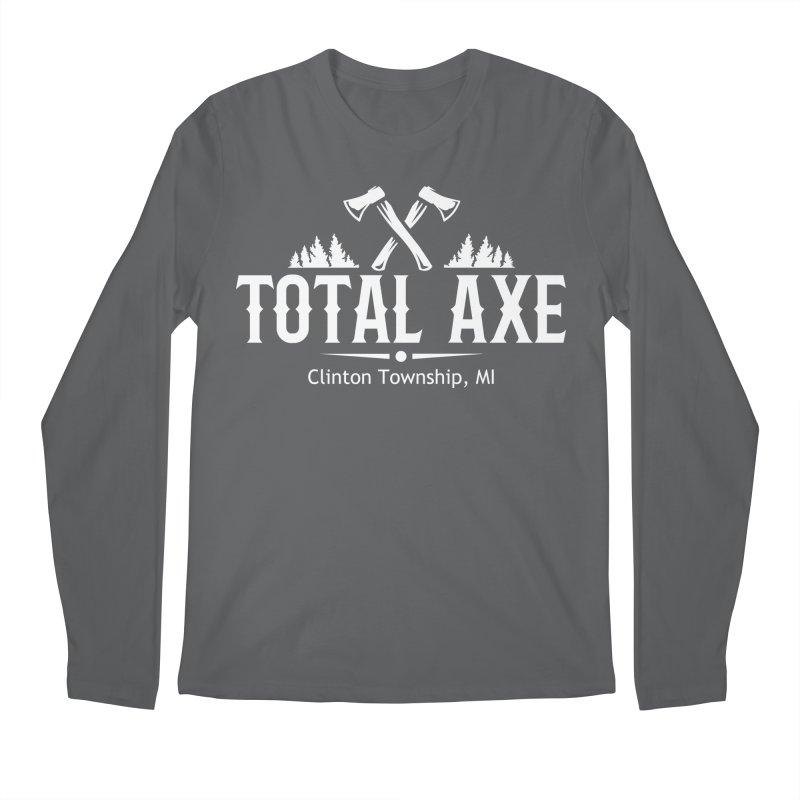 Total Axe White Logo Men's Longsleeve T-Shirt by Total Axe Throwing Online Shop