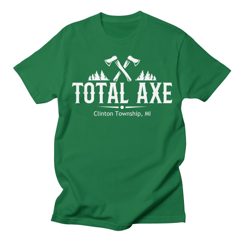 Total Axe White Logo Men's T-Shirt by Total Axe Throwing Online Shop