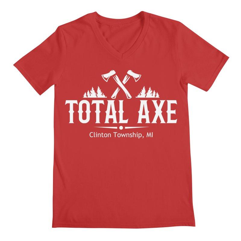 Total Axe White Logo Men's V-Neck by Total Axe Throwing Online Shop