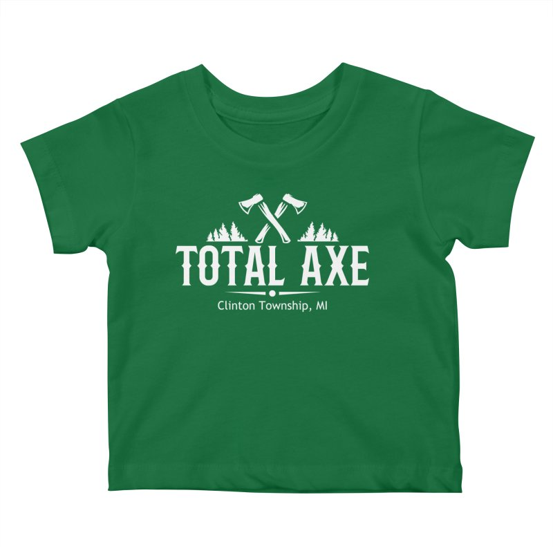Total Axe White Logo Kids Baby T-Shirt by Total Axe Throwing Online Shop