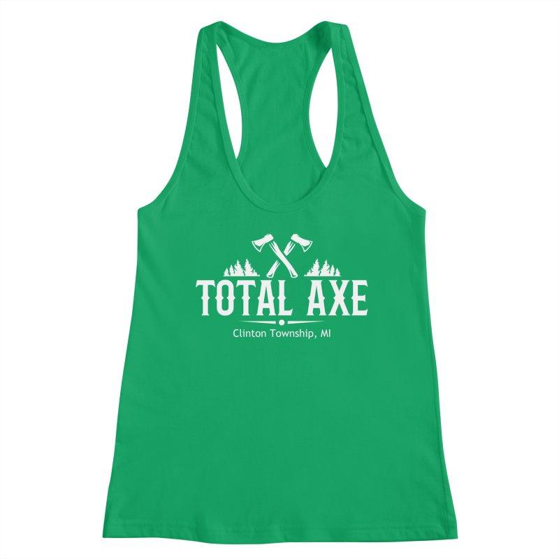 Total Axe White Logo Women's Tank by Total Axe Throwing Online Shop