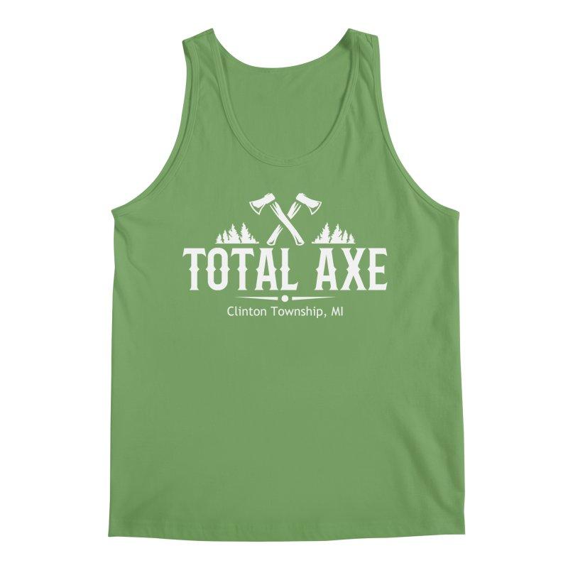 Total Axe White Logo Men's Tank by Total Axe Throwing Online Shop