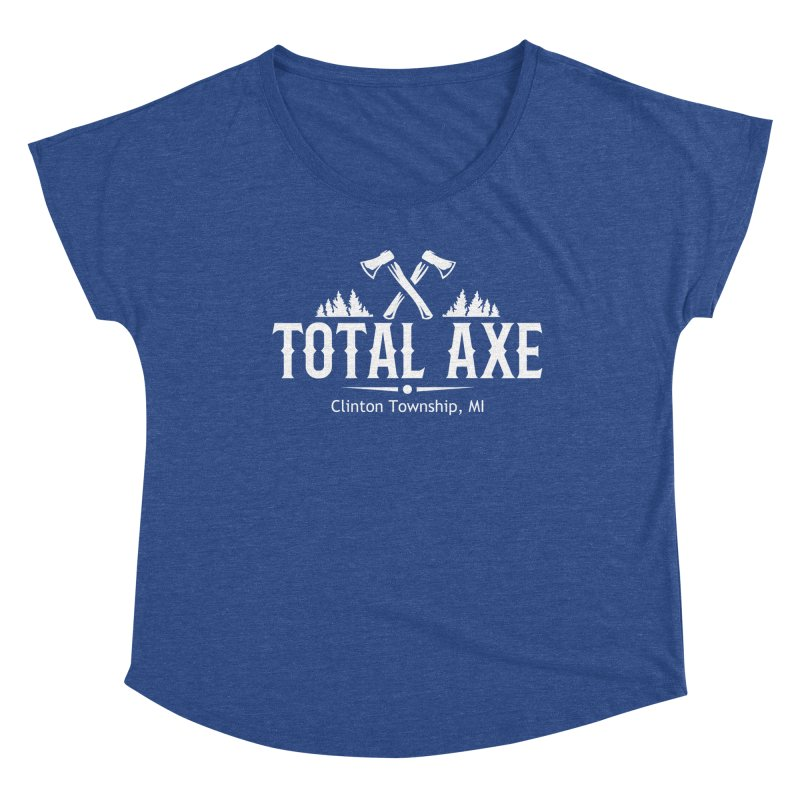 Total Axe White Logo Women's Scoop Neck by Total Axe Throwing Online Shop
