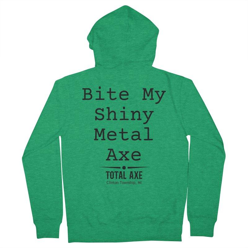 Bite My Shiny Metal Axe Men's Zip-Up Hoody by Total Axe Throwing Online Shop