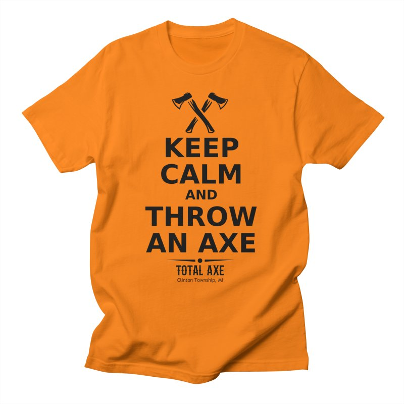 Keep Calm and Throw an Axe Men's T-Shirt by Total Axe Throwing Online Shop