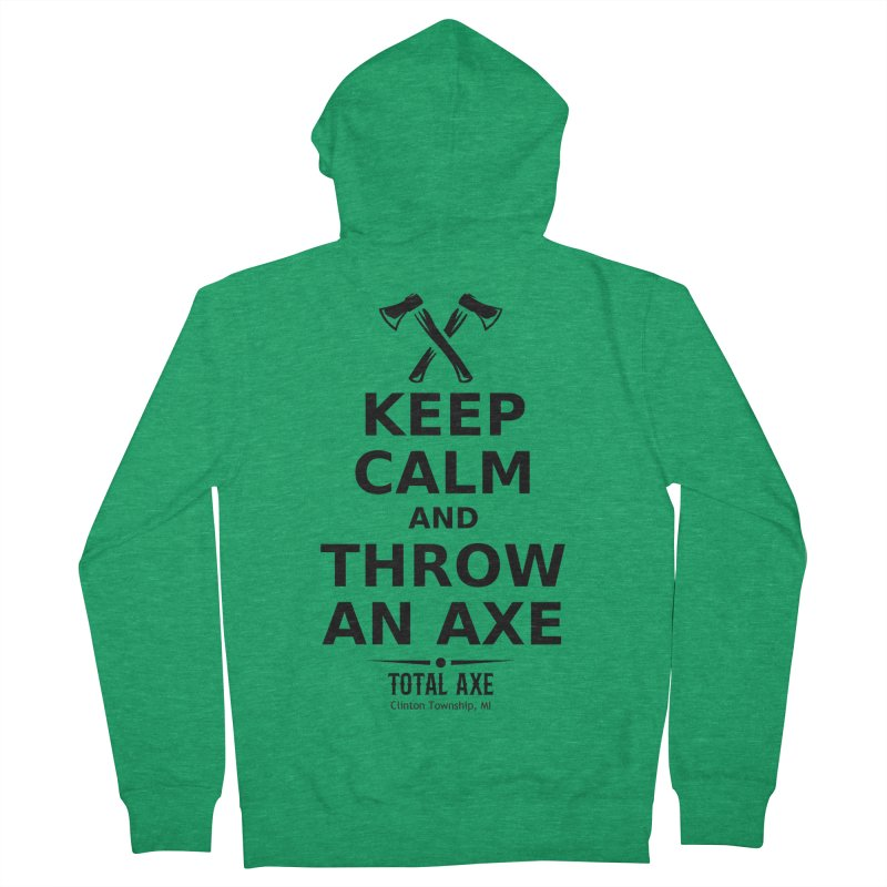 Keep Calm and Throw an Axe Men's Zip-Up Hoody by Total Axe Throwing Online Shop