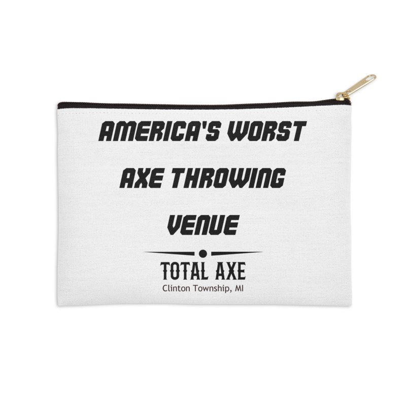 America's Worst Axe Throwing Venue Accessories Zip Pouch by Total Axe Throwing Online Shop