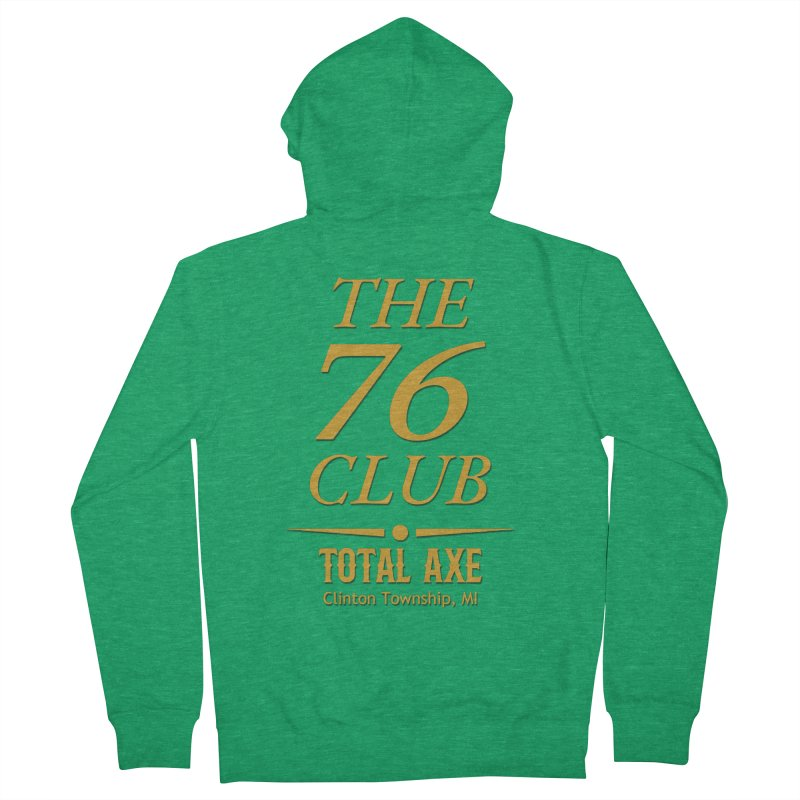 The 76 Club Men's Zip-Up Hoody by Total Axe Throwing Online Shop