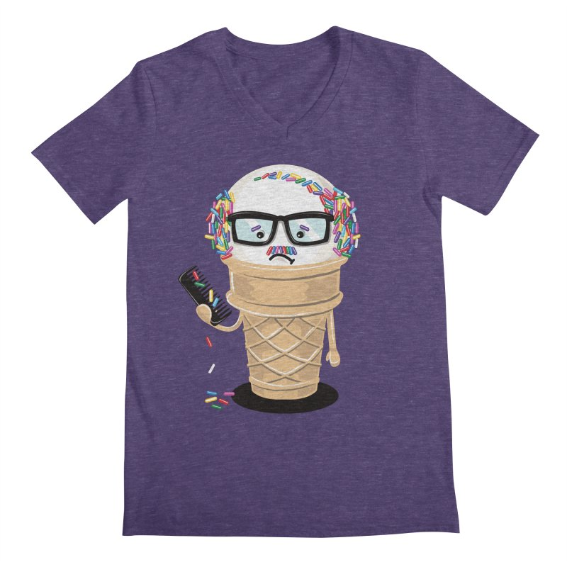 Ice Cream Coneover Men's V-Neck by totalbabycakes's Artist Shop