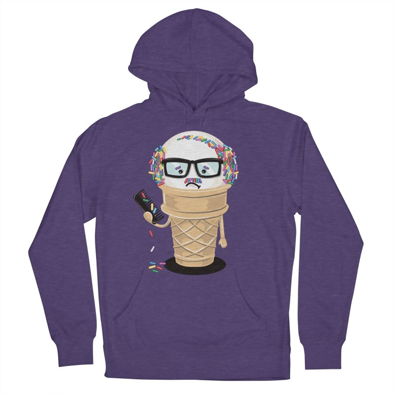 Ice Cream Coneover Men's French Terry Pullover Hoody by totalbabycakes's Artist Shop