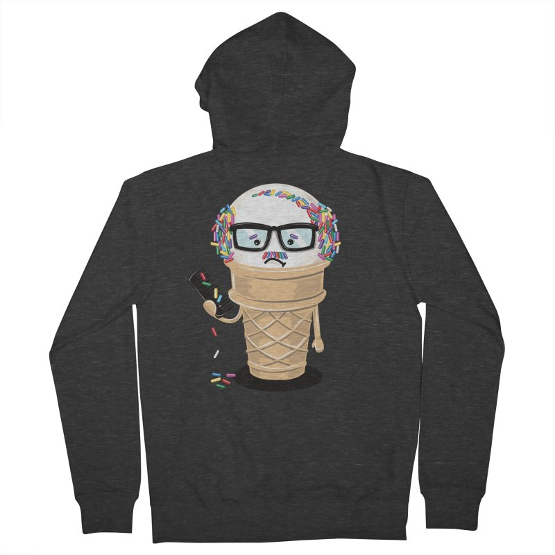 Ice Cream Coneover Women's French Terry Zip-Up Hoody by totalbabycakes's Artist Shop