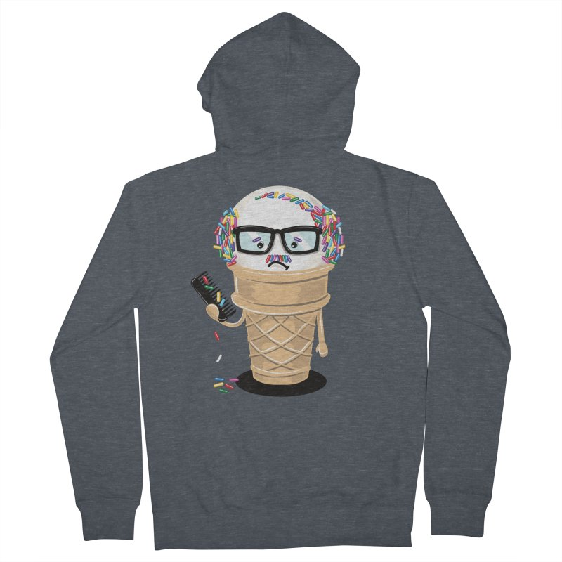 Ice Cream Coneover Men's French Terry Zip-Up Hoody by totalbabycakes's Artist Shop