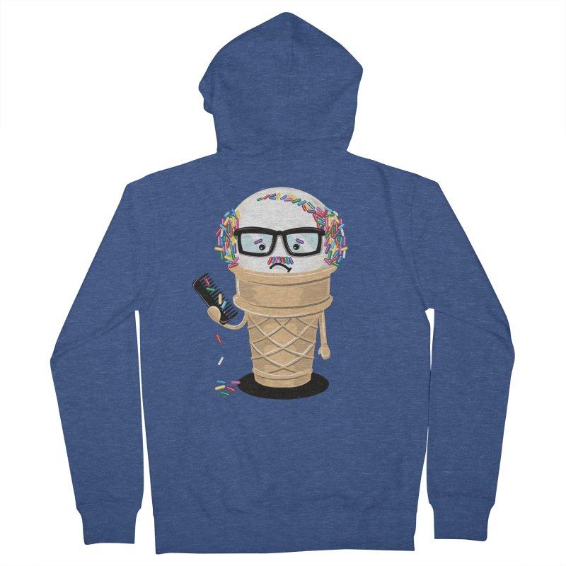 Ice Cream Coneover Men's Zip-Up Hoody by totalbabycakes's Artist Shop