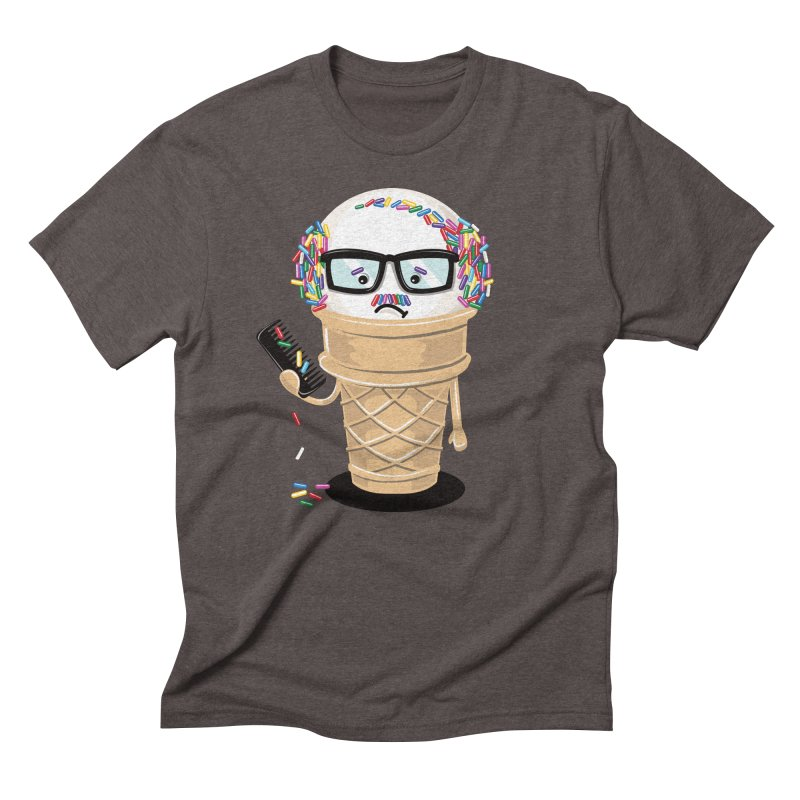 Ice Cream Coneover Men's Triblend T-Shirt by totalbabycakes's Artist Shop