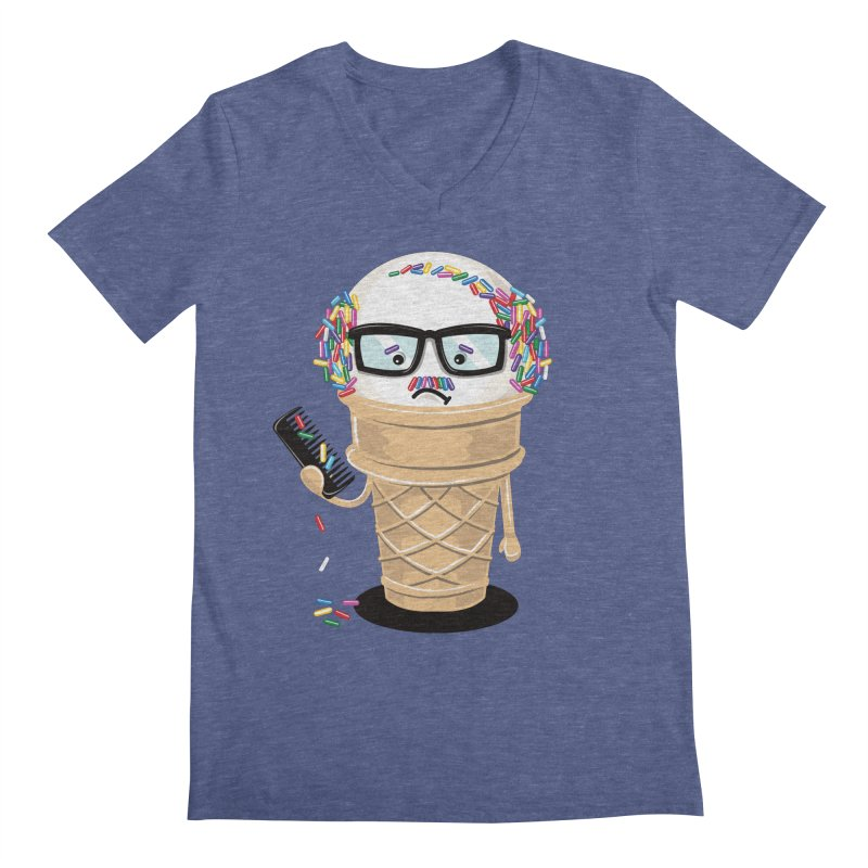 Ice Cream Coneover Men's Regular V-Neck by totalbabycakes's Artist Shop