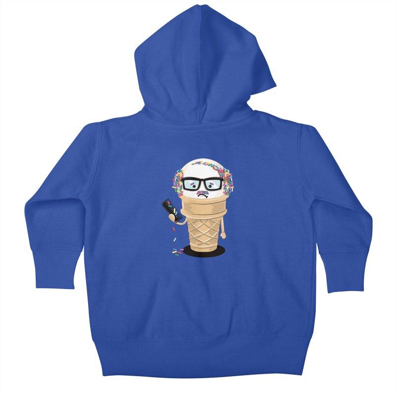 Ice Cream Coneover Kids Baby Zip-Up Hoody by totalbabycakes's Artist Shop