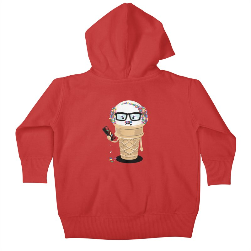 Ice Cream Coneover Kids Baby Zip-Up Hoody by totalbabycakes's Artist Shop