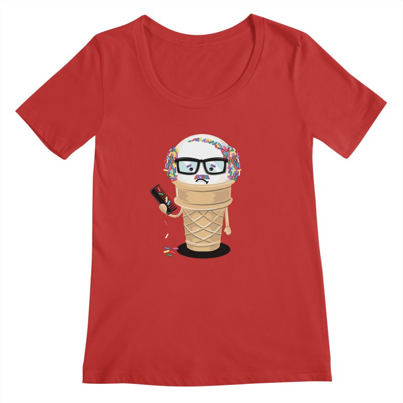 Ice Cream Coneover Women's Scoopneck by totalbabycakes's Artist Shop