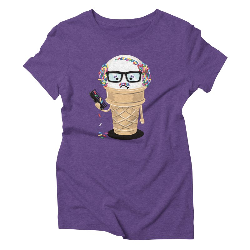 Ice Cream Coneover Women's Triblend T-Shirt by totalbabycakes's Artist Shop