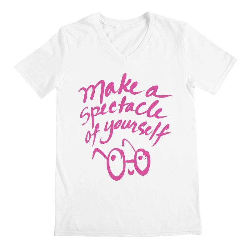 Make a Spectacle of Yourself Men's V-Neck by totalbabycakes's Artist Shop